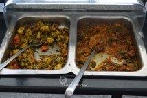 Aloo Methi (L) Dry and Bhindi Do Pyaza (R)