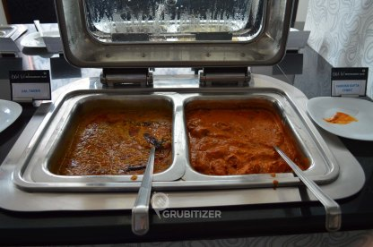 Dal Tadka (L) and Nargish Kofta Curry (R)